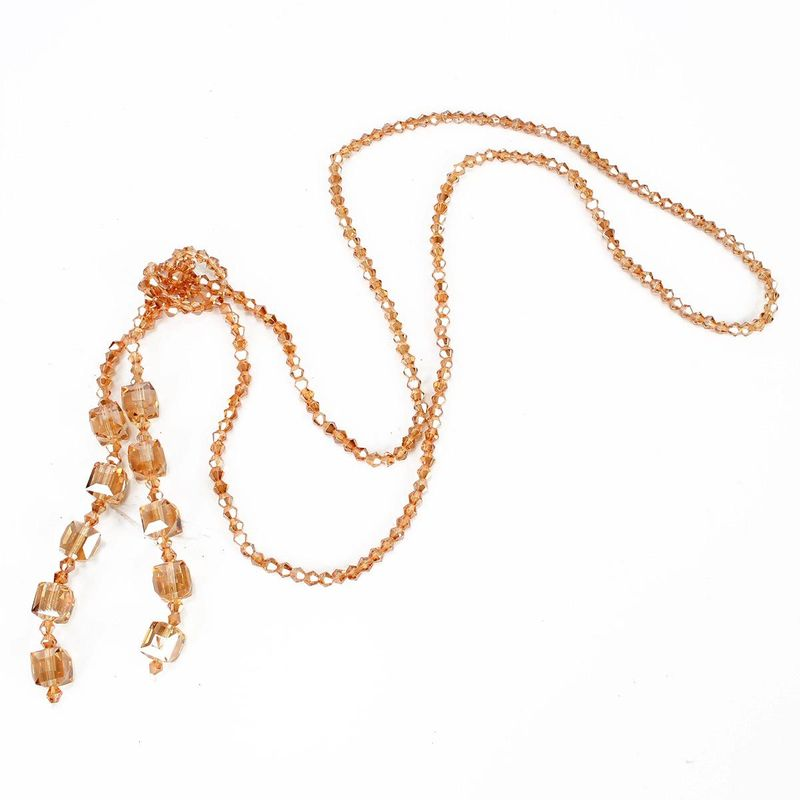 New Handmade Crystal Beaded Necklace Women's Long Sweater Chain wholesales yiwu supplliers china NHCT202812
