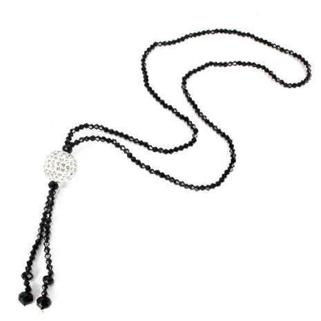 New high-end crystal diamond ball necklace long clothes pendant ornaments wholesales yiwu suppliers china NHCT202813's discount tags