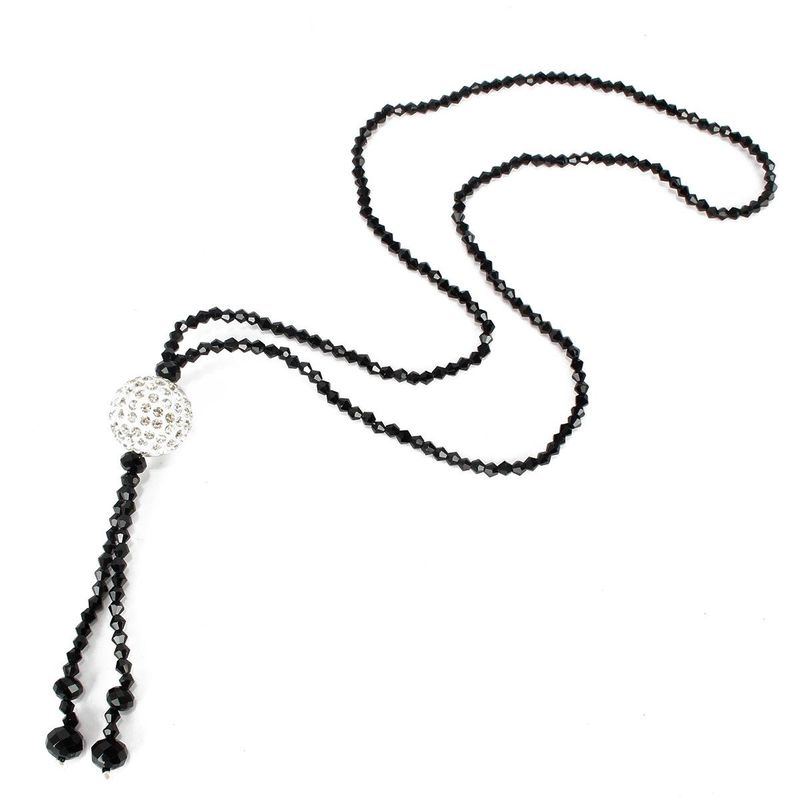 New high-end crystal diamond ball necklace long clothes pendant ornaments wholesales yiwu suppliers china NHCT202813