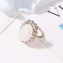 New exaggerated sun flower ring baroque opal index finger ring women NHDP202820