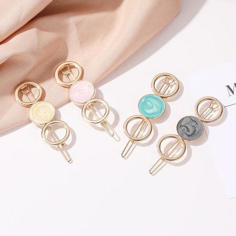 Korean new hair accessories color candy round hollow hair clip sweet girl circle hollow cheap edge clip NHDP202822's discount tags