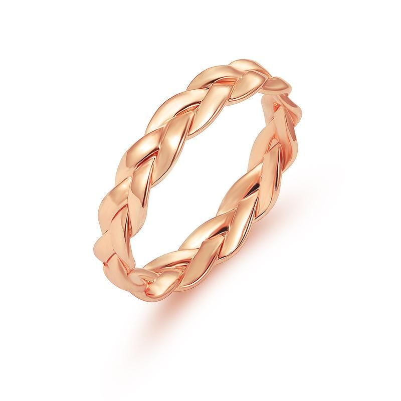 Fashion creative closed chain ring simple retro twist twist ring women wholesale NHDP202827