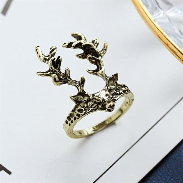 Jewelry Wholesale Vintage Sika Deer Ring Women's Ring wholesales yiwu suppliers china NHDP202849