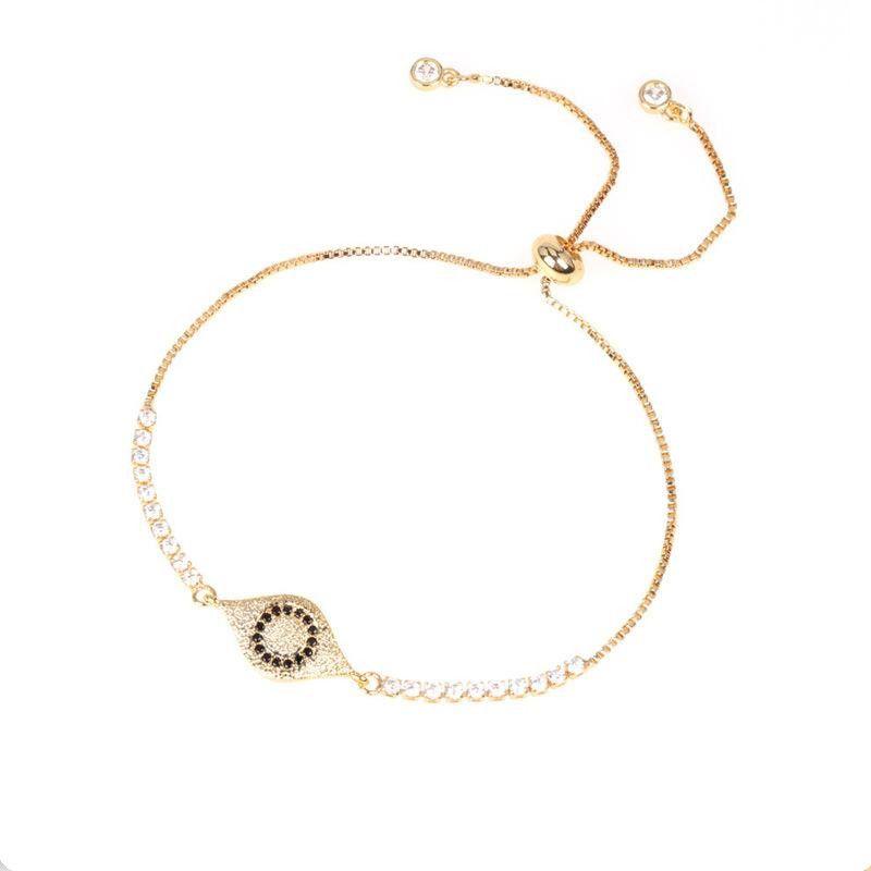 Devil's Eye Bracelet with Diamonds and Colored Zircon Pulling Bracelet NHPY202866