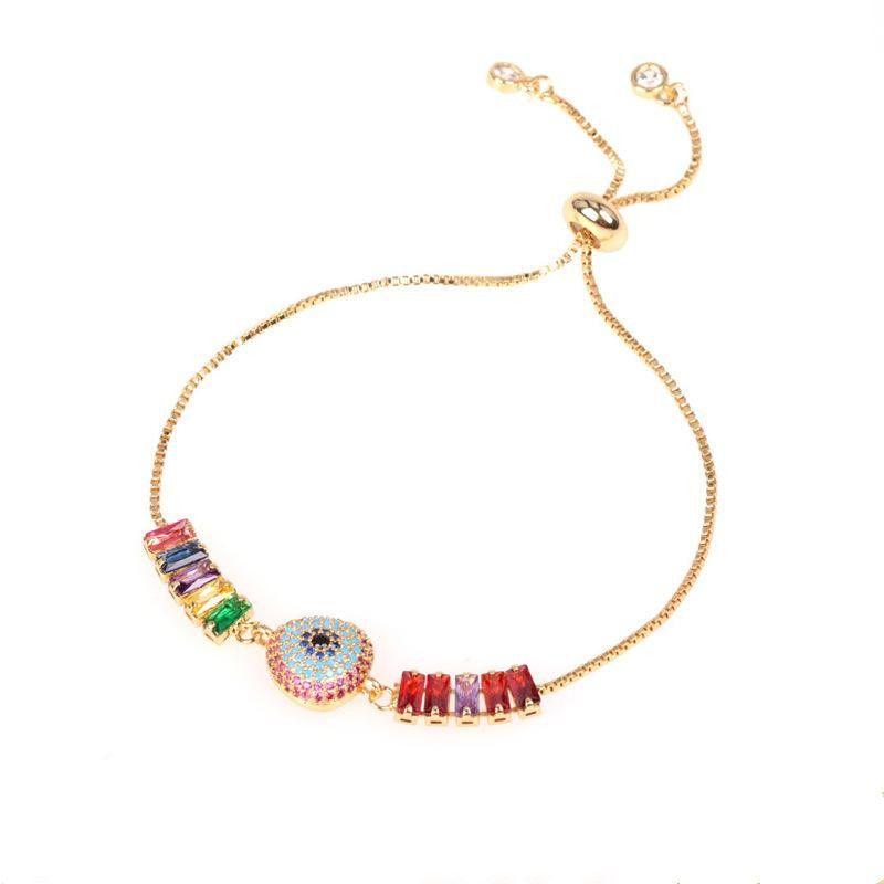 Angel Devil Eye Bracelet with Adjustable Color Zirconia Adjustable Bracelet NHPY202869
