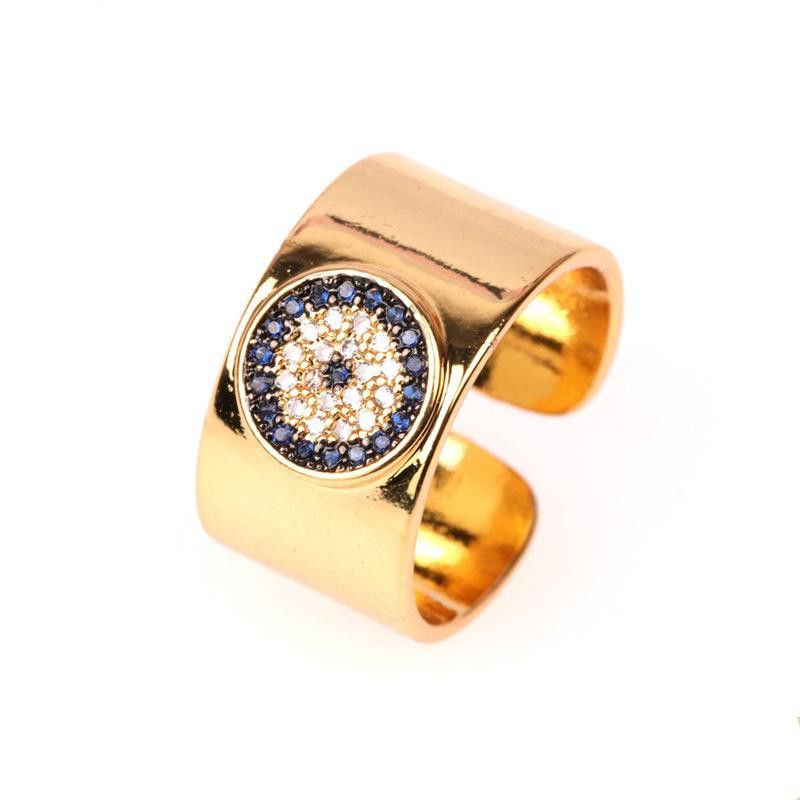 Fashion rings for women micro-diamond love opening ring female demon eye index finger ring jewelry wholesale NHPY202877