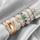 Fashion rings for women simple popular diamond knotted ring 5piece set retro style wide side joint ring NHGY202888