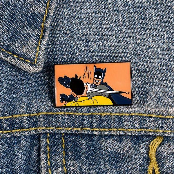 Broche Solapa Camisa Batman Vaquero Insignia Al Por Mayor NHBO202895
