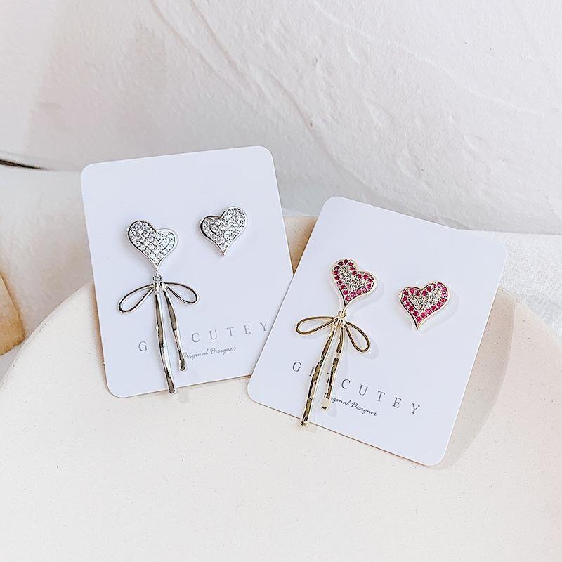 Love bow asymmetric earrings fashion earrings wholesales yiwu NHDO202908