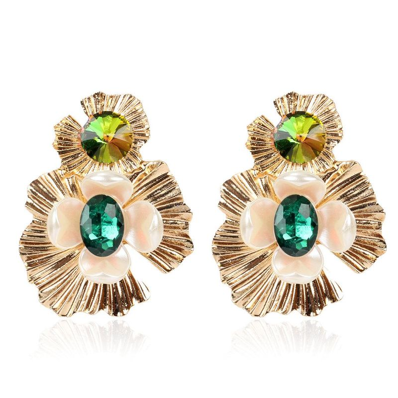 New flower earrings female fashion simple colorful earrings NHCT202915