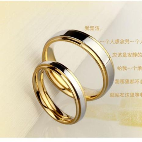 Couple ring titanium steel ring for men and women wholesale NHIM202942's discount tags