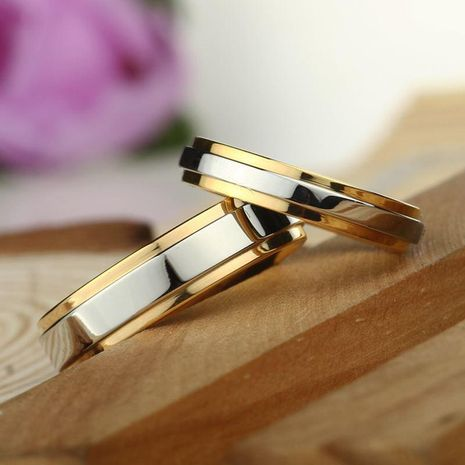 Couple ring titanium steel ring for men and women wholesale NHIM202945's discount tags