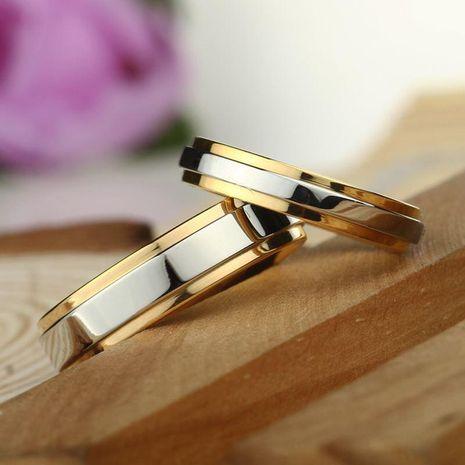 Anillo de pareja anillo de acero de titanio para hombres y mujeres al por mayor NHIM202945's discount tags