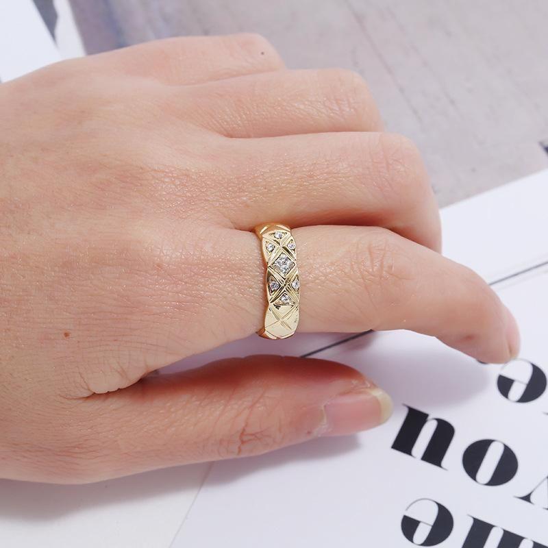 Fashion rings for women diamond ring simple full diamond ring wholesale NHKQ202964