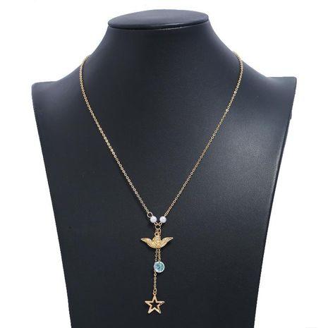 Fashion Metal Bird Star Sweater Chain Chokers Long Money Chain NHKQ202966's discount tags