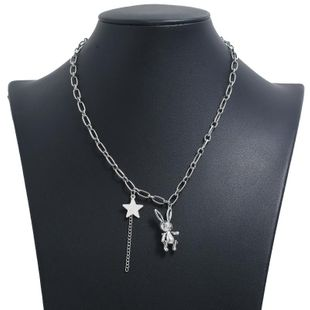 Fashion Trend Clavicle Chain Simple Bunny Star Pendant Necklace wholesales yiwu suppliers china NHKQ202969's discount tags