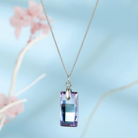 Jewelry ladies necklace imitation zircon necklace meteor crystal pendant clavicle chain NHGO202974's discount tags