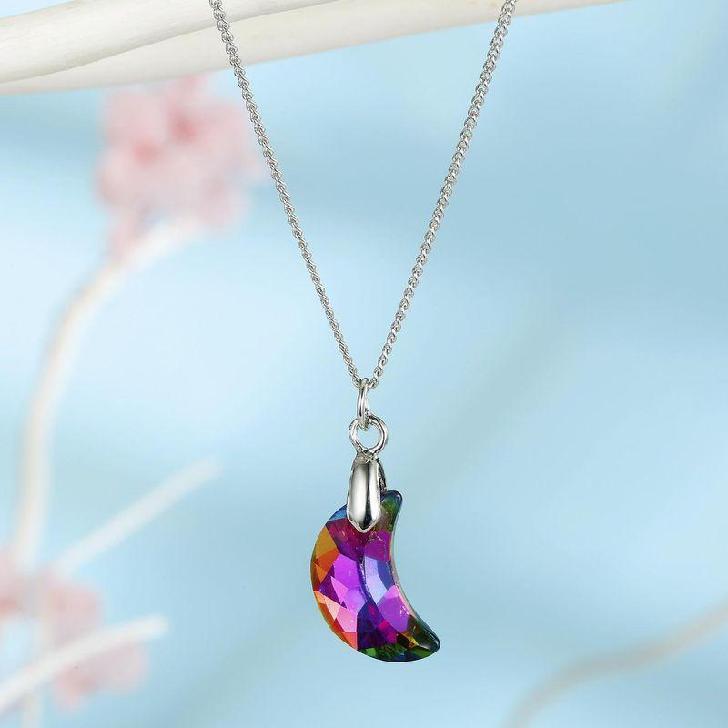 Jewelry ladies necklace imitation zircon necklace moon crystal pendant clavicle chain yiwu NHGO202979