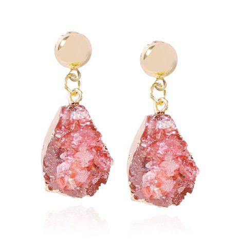 Nuevos aretes de imitación de joyería de piedra natural de moda Pendientes colgantes de resina con forma de gota geométrica simple NHMD202991's discount tags