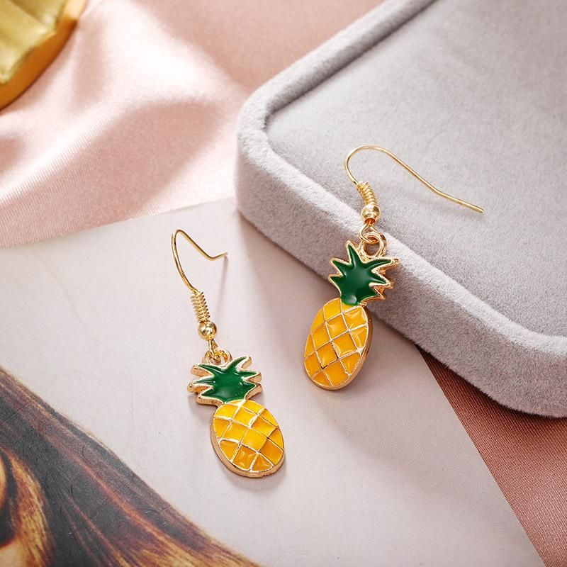 Jewellery for women Cute sweet fruit pineapple earrings wholesales fashion yiwu suppliers china NHPF203011