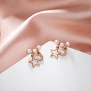 Jewellery for women Pentagram Moon Pearl Earrings wholesales fashion yiwu suppliers china NHPF203012