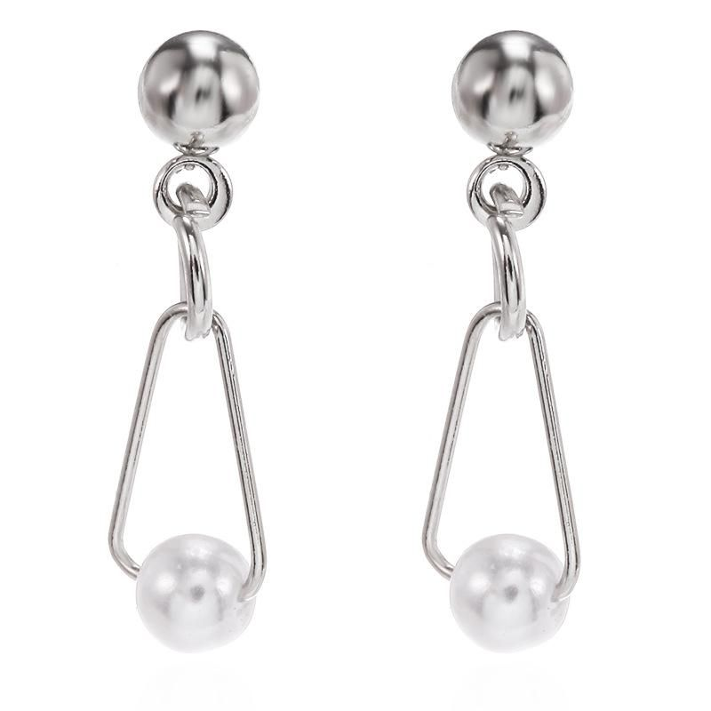 Korean new earrings simple pearl simple earrings wholesales yiwu suppliers china de moda NHPF203016