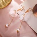 Ballerina earrings long fringed acrylic petal earrings wholesales yiwu suppliers china NHPF203022