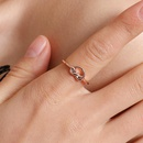 Fashion rings for women new rose gold knotted ring wholesale NHDP203037