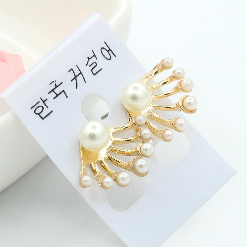 Small pearl back hanging cute playful earrings pearl earrings earrings wholesale NHDP203038