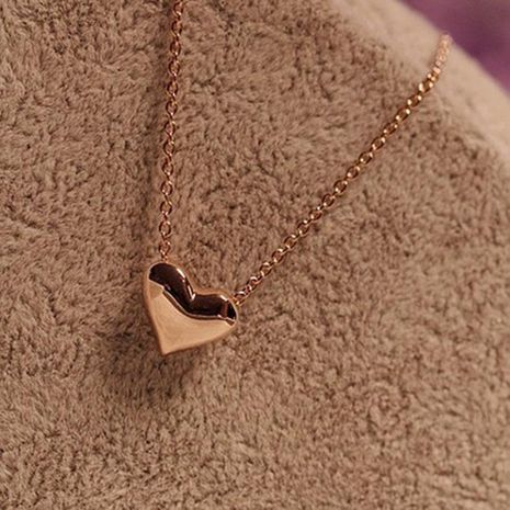 Korean jewelry wholesale short golden love necklace neck chain clavicle chain women suppliers china NHDP203058's discount tags