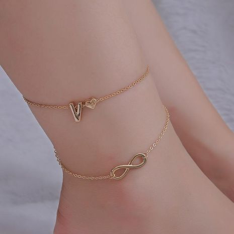 Fashion Love Double Anklet 26 lettres Anklet en gros fournisseurs de yiwu chine NHDP203061's discount tags