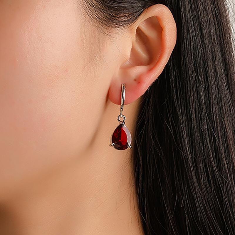 New earrings drop-shaped zircon earrings fashion multicolor ladies earrings NHDP203064