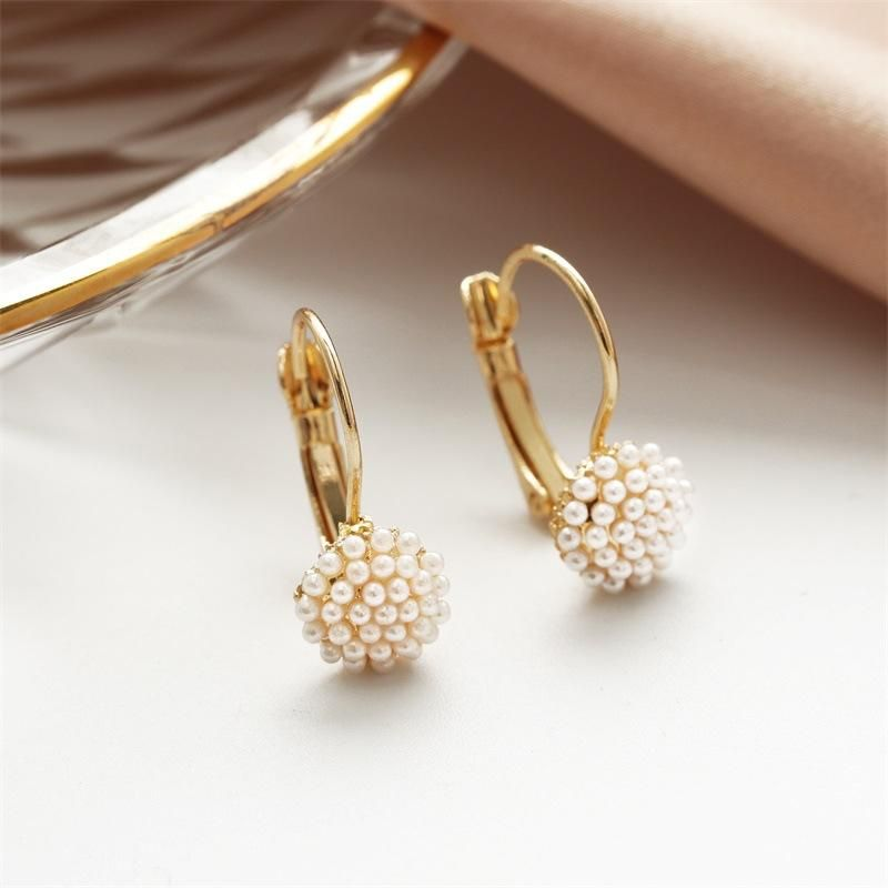Korean jewelry wholesale fashion earrings cute hypoallergenic millet grain earrings NHDP203066