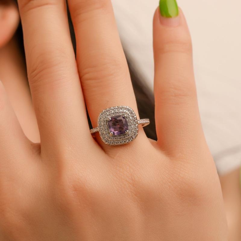 Micro Set Zircon Women's Ring Korean Diamond Wedding Ring Ring NHDP203074