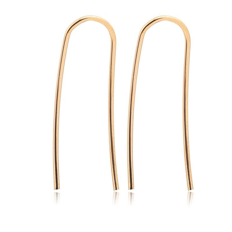 Korean fashion creative simple earrings U-shaped ladies ear clip wholesale NHDP203077