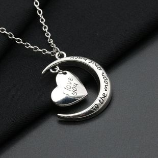 Korean new moon love necklace sweater chain NHDP203085's discount tags