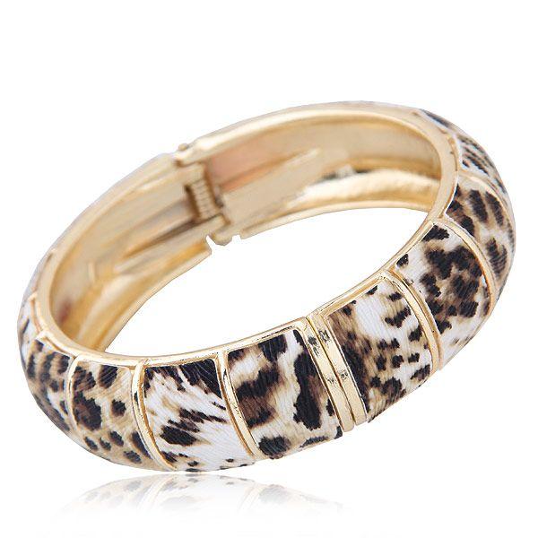 Fashionable Golden Simple Leopard Bracelet NHSC203474