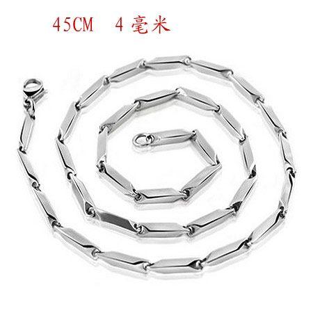 45cm4mm Fashion Diamond Titanium Steel Men's Necklace NHSC203467
