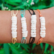 Bohemian minimalist rice bead broken shell multicolor cord rope woven bracelet 4 piece set NHGY203463