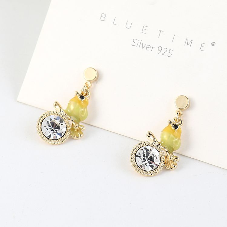 New fashion cute new gold plated small fresh earrings NHSE203195
