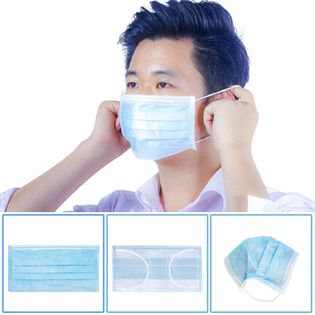 Mascarilla médica quirúrgica desechable antivirus de protección multicapa NHAT203196