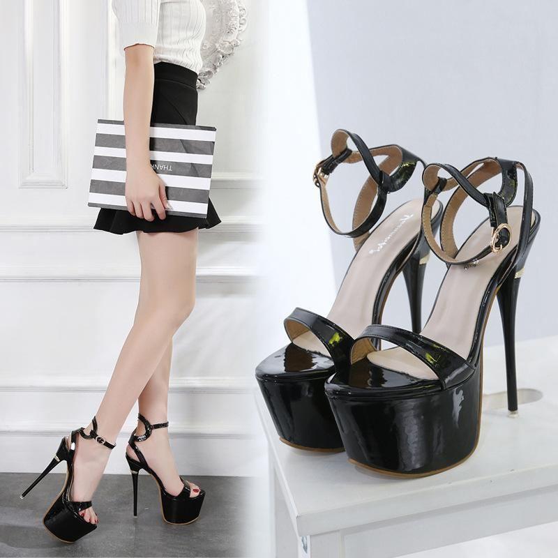 New women's shoes stiletto heel pump platform sandals NHSO203235