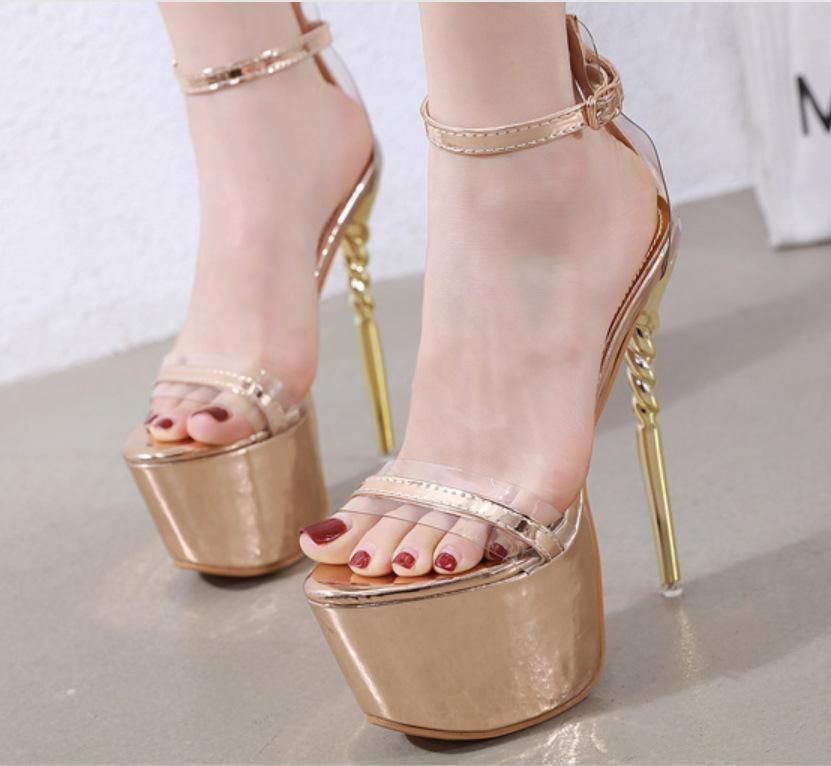 New women's shoes super-heeled stiletto platform sandals women's singles shoes NHSO203237