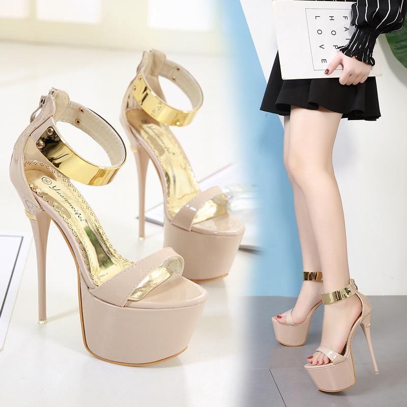 New women's shoes stiletto super high heel platform sandals NHSO203239