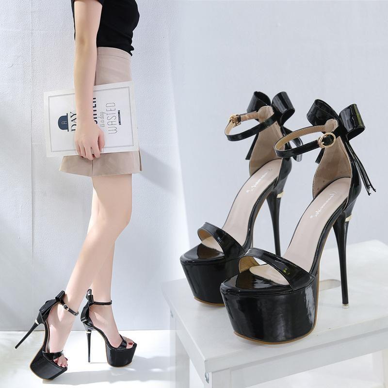 New women's shoes stiletto heel pump platform women's sandals NHSO203257