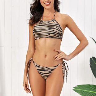 Traje de baño para mujer bikini con estampado de piel de tigre con estampado dividido bikini sexy NHHL203275's discount tags