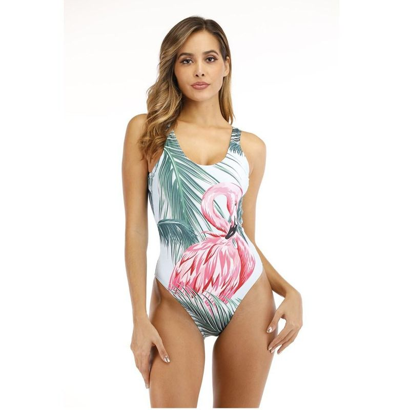 New Siamese Print Swimsuit Backless Swimsuit wholesales yiwu suppliers china NHHL203279