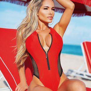 Nuevo bikini de una pieza de malla de 4 colores con traje de baño gordo y ampliado NHHL203290's discount tags