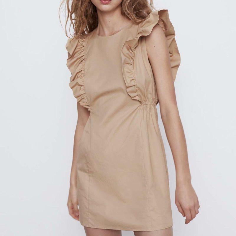 Fashion dress for women Wholesale Laminated Sleeveless Dress NHAM203354