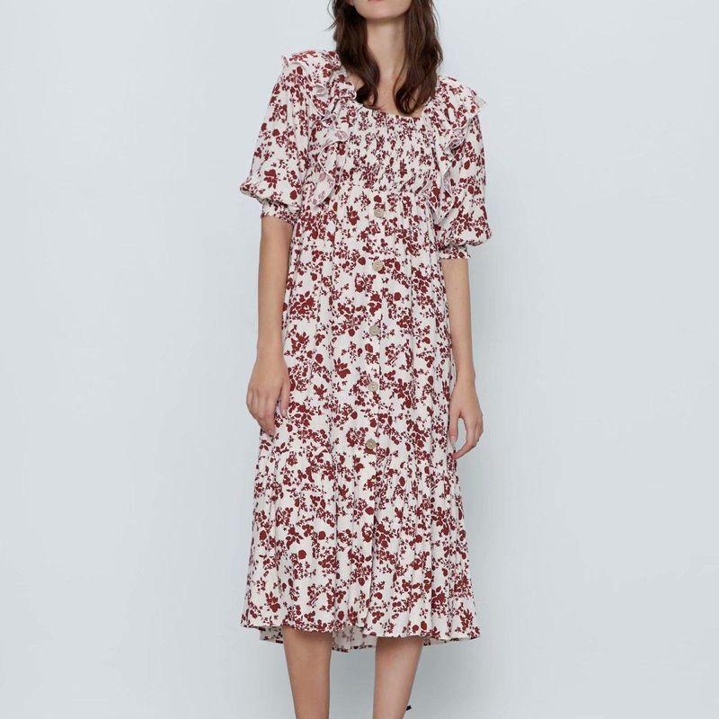 Fashion dress for women wholesale printed holiday dress NHAM203369